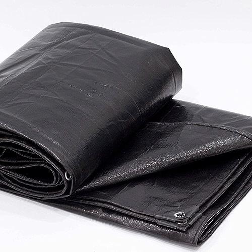 WSGZH Bache Auvent Imperméable Bache Auvent Bache, Noir, épaisseur 0.35mm, 180g   M2, 19 Options De Taille