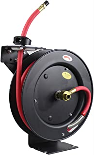 """MaxWorks 50104 25ft Auto Rewind Retractable Reel with 3/8"""" x 25' Long Air Hose.."""