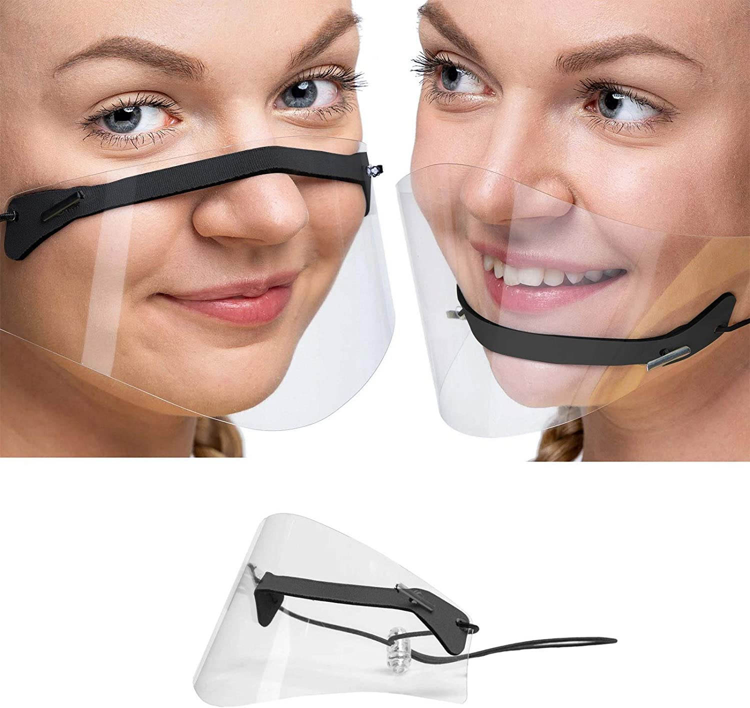 ovticza Clear Face Mask 5 ☆ New product!! popular Reusable Mini Shield Transparen Washable