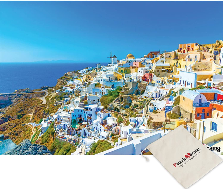 [Pouch Included] Oia Village Of Santorini - 2000 Piece Mini Jigsaw Puzzle [Puzzle Korea]