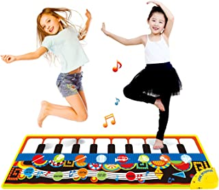 Coolplay Piano Play Music Mat Touch Keyboard for Baby Gift 10 Key Step on Keyboard and 8 Selectable Musical Instruments - 43.3'' x14.2''