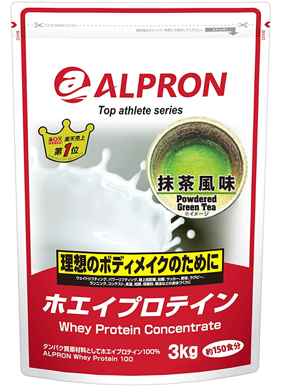 風変わりな任命立方体アルプロン ホエイプロテイン100 3kg【約150食】抹茶風味(WPC ALPRON 国内生産)