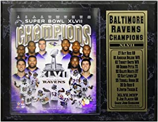 Encore Select 521-05 NFL Baltimore Ravens Super Bowl XLVII Championship Team Biggest Stars Plaque, 12-Inch by 15-Inch