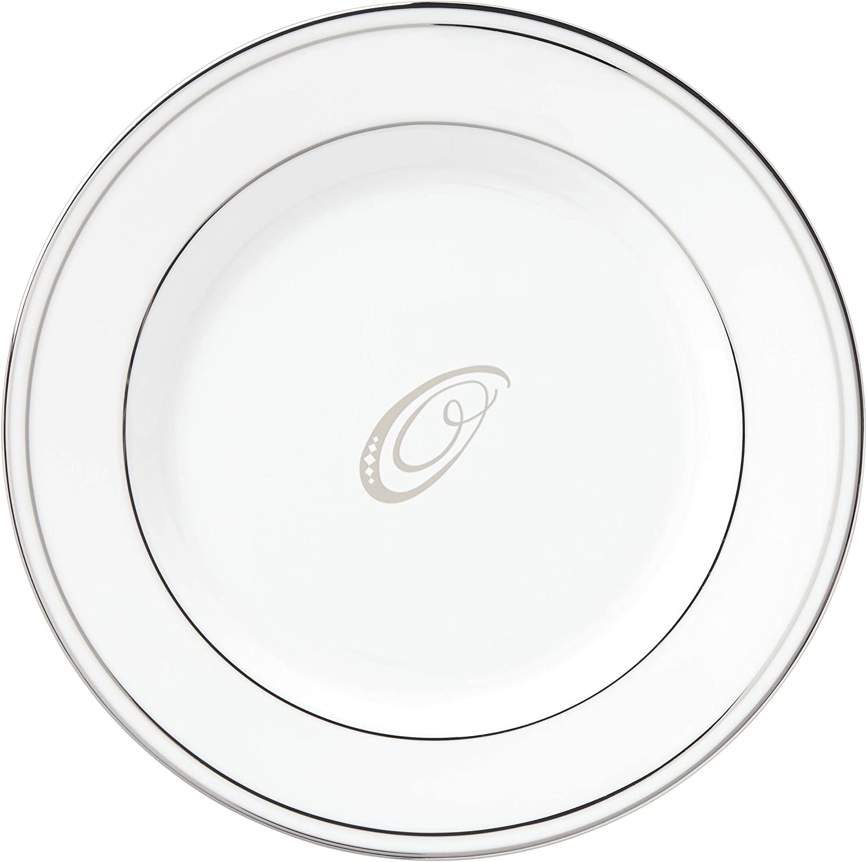 Lenox Quantity limited Federal Platinum Script Monogram Dinnerware P Butter Bread Inexpensive