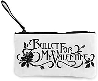 Canvas Coin Purse Bullet My Valentine Cosmetic Makeup Storage Wallet Clutch Purse Pencil Bag