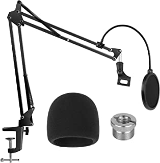 InnoGear Heavy Duty Microphone Stand with Mic Microphone Windscreen and Dual Layered Mic..