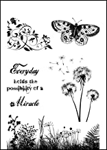 IndigoBlu Cling Mounted Stamp, 9.25 by 6.25-Inch, Wild Meadow
