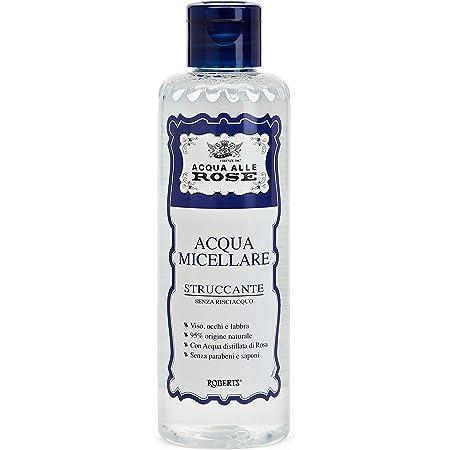 Acqua alle Rose Acqua Micellare Struccante, Detergente Viso Pelli Normali, 200 ml