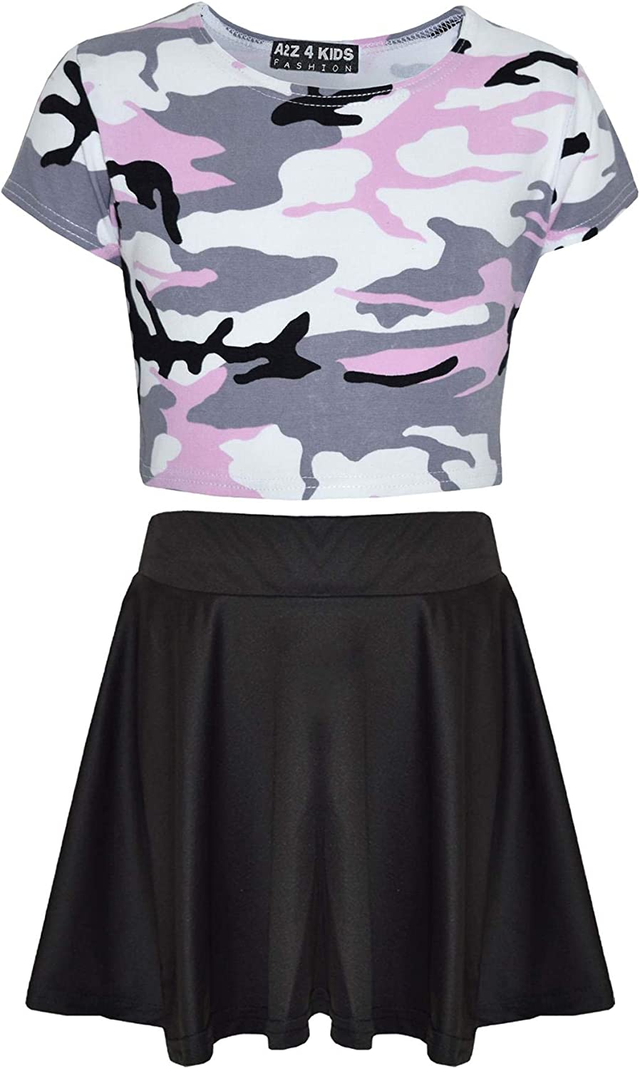 Girls S//S Top /& Leggings Outfits /& Hair Clips Ages 12-13 OR 6-7