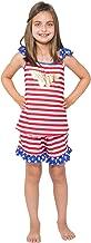 DC Comics Girls' Wonder Woman USA Ruffle Pajama Short Set