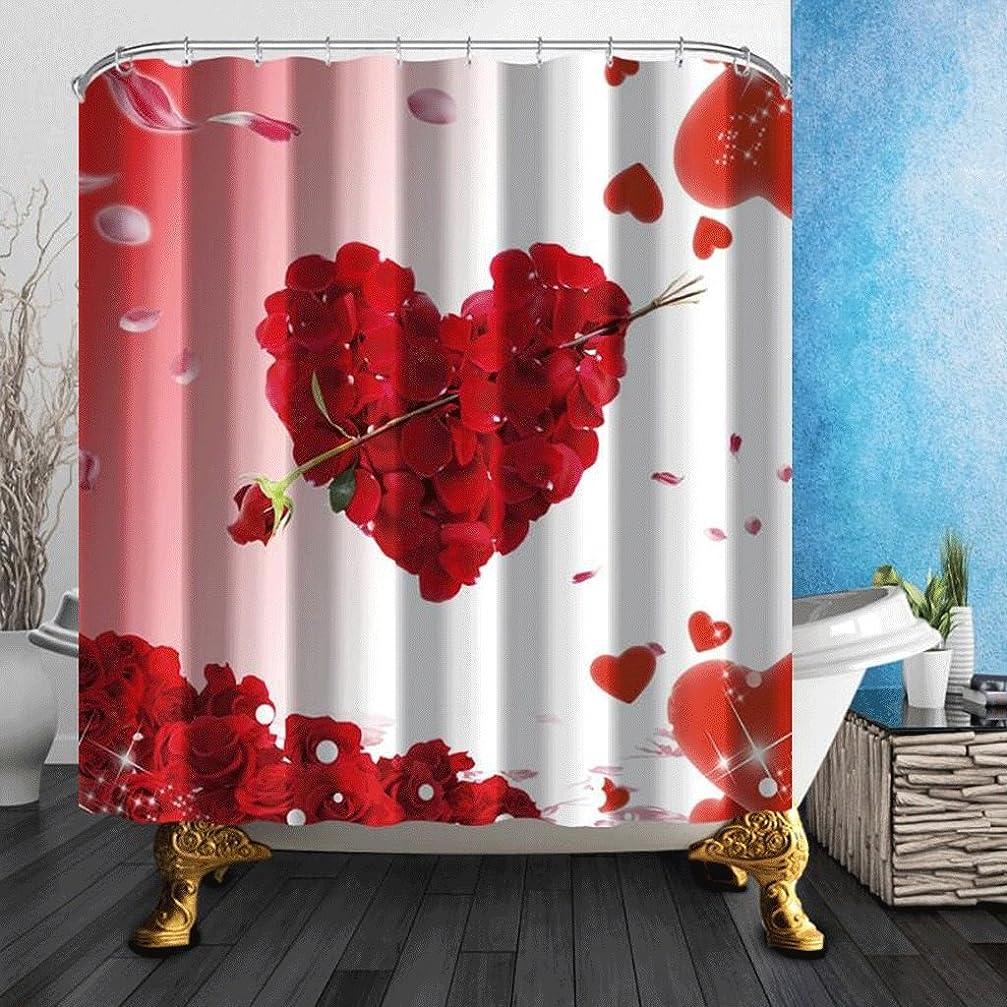 凝視クリップスキーシンプルでスタイリッシュな3D赤いバラ浴室シャワーカーテン防水と防カビのポリエステルシャワーカーテン ( サイズ さいず : 180*180cm )