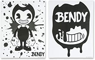 Bendy and the Ink Machine Posters - Official Bendy 2 Pack Poster Set - Black and White Bendy Posters (White Splatter)