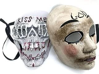 MASQSTUDIO The Purge Mask Pair Anarchy Purge Men and Women Movie Horror Purge Killer Masked Men Halloween Costume Party