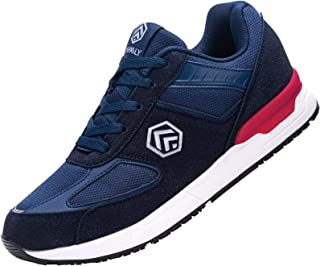 Fehlern Zapatillas de Seguridad Hombre Ligeras Zapatos de Trabajo Punta de Acero Calzado de Seguridad Antideslizante
