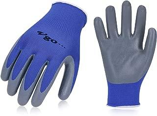 Rubber Coated Work Gloves Womens Gardening Working Gloves Orange//Green COOLJOB 6 Pairs Garden Gloves for Women Medium Size Fits Most
