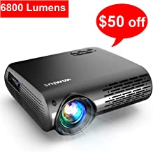 Projector, WiMiUS Upgrade 6800 Lumens Projector Native...
