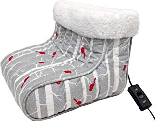Thermee Micro Flannel Heated Foot Warmer, One Size, Birches
