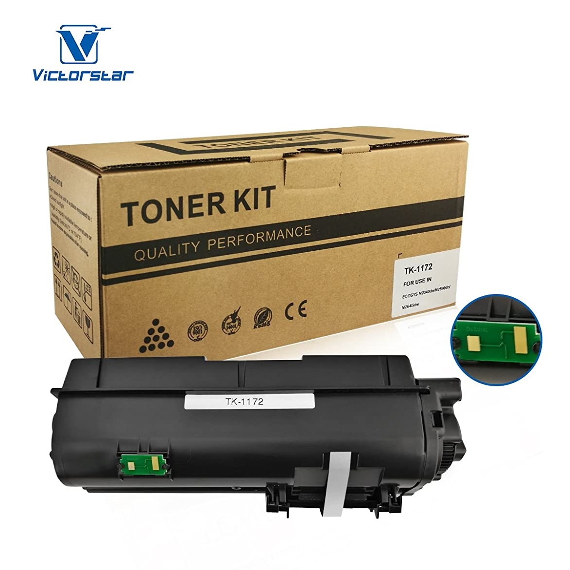 Compatible Toner Cartridge TK1172 / TK-1172 Black VICTORSTAR for Kyocera ECOSYS M2040dn M2540dn M2640idw Laser Printers