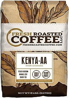 Fresh Roasted Coffee LLC, Kenya AA Nyeri Ichamara Coffee, Medium-Dark Roast, Whole Bean, 5 Pound Bag