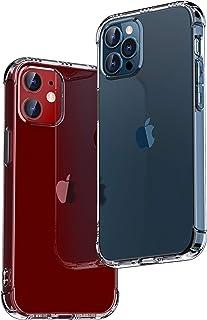 ONES 半透明 iPhone 12 / 12 Pro ケース 耐衝撃 エアバッグ 超軍用規格 『MagSafe、Qi充電、半密閉音室』〔滑り止め、すり傷防止、柔軟〕〔美しい、光沢感、軽·薄〕 衝撃吸収 HQ·TPU 高級感 カバー (6.1インチ)