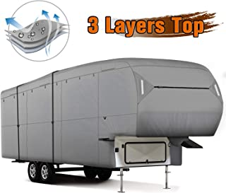 XGEAR 5th Wheel RV CoverThick 3-Ply Top Panel - Ripstop Waterproof RVs Covers (37`-41`)