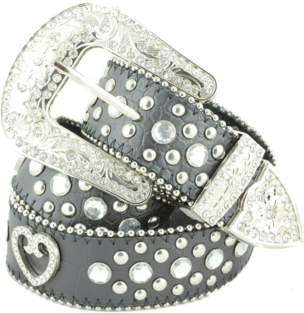 Deal Fashionista BLACK HEART Concho Surprise price Complete Free Shipping Bling Western Rhinestone Stu