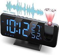 """JIGA Projektionswecker wecker digital mit projektion Radiowecker Dual-Alarm, 7"""".."""