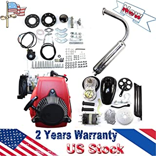 DY19BRIGHT 49CC Motorized Bicycle Kit Bike Engine Kit Single Cylinder 4-Stroke Gas Petrol Motorized Bike Engine Scooter Belt Gear US Stock
