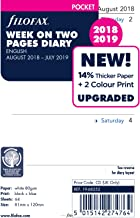 Filofax Pocket Week on two pages English mid year Academic Aug 18 - Jul 19 19-68252