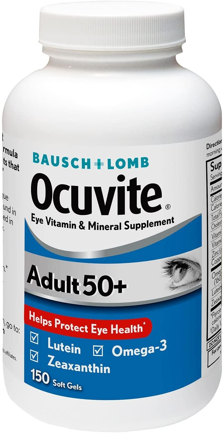 Bausch + Max 61% OFF Lomb Ocuvite Adult Supplement Mineral 35% OFF wit Vitamin 50+