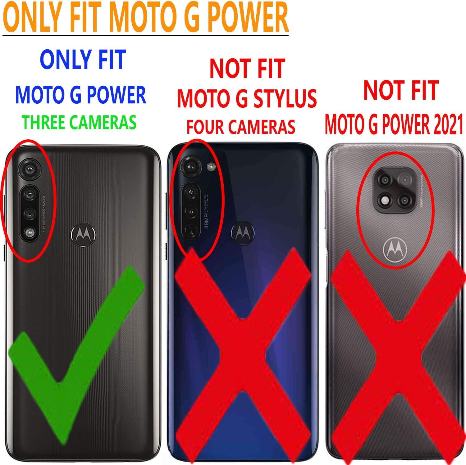 Circlemalls Compatible For -Motorola Moto G Power 2020 Case, [NOT Moto Power 2021] With [Tempered Glass Screen Protector Included], Armor Heavy Duty Kickstand Cover With Belt Clip Holster -Red