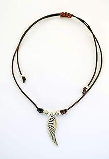 Girocollo regolabile argento ad ala d'angelo fatto a mano, regalo per le donne
