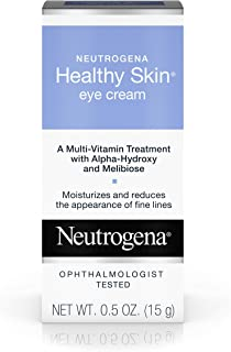 Neutrogena Healthy Skin Eye Firming Cream with Alpha Hydroxy Acid, Vitamin A and Vitamin B5 - Eye Cream for Wrinkles with Glycerin, Glycolic Acid, Alpha Hydroxy, Vitamin A, Vitamin B5, Vitamin C, 0.5