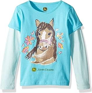 John Deere Girls J2T236PT3A T-Shirt Medium Pink 3 Years
