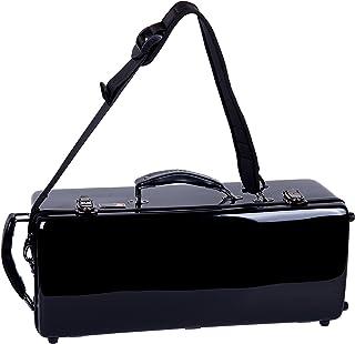 Crossrock Bb & C 双喇叭壳玻璃纤维硬壳带背包风格黑色