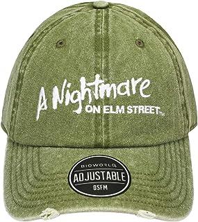 Nightmare on Elm Street Logo Olive Pigment Dye Distressed بابو