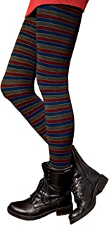 Gatta Strickstrumpfhose aus Baumwolle mit Muster G88716-01 - hoher Baumwollanteil - gemusterte Baumwollstrumpfhose gestreift bunt - Designed & Made in EU