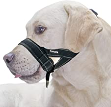 FOMATE Reflective Safety Dog Muzzle Lead with Adjustable Sections, Release Strap, for Small, Medium, and Large Breeds