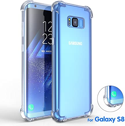 Samsung Galaxy S8 Case, DN-TECHNOLOGY® [Fusion] Crystal Clear Back TPU Bumper Case With Raised Corner [Advanced Shock-Absorbent/Drop Protection Technology] Clear Case/Shockproof Case /Transparent Case/ Clear Case For Samsung Galaxy S8 Phone Case Cover (Compatible With Galaxy S8 Screen Protector)