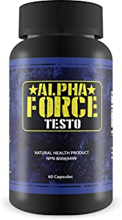 Alpha Force Testo-Anabolic Activator for Muscle Size and Recovery - Increases Natural Test Levels, Energy, Muscle Mass, and Accelerates Fat Loss(60 Capsules)