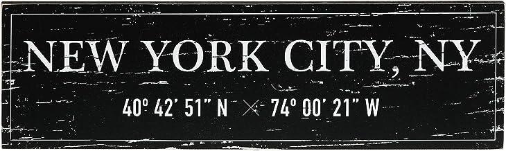 "Barnyard Designs New York City Sign Rustic Vintage Wood Wall Art Home Decor 17"" x 5"""