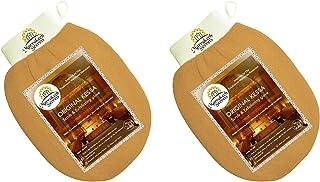 Exfoliating Glove Kessa Scrub (Pack of 2)- Dead skin remover for body scrub, Moroccan Kessa Mitt- Natural Viscose Fiber