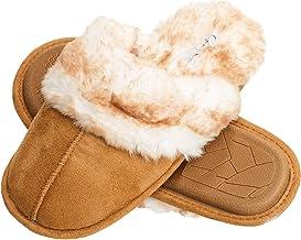 جسیکا سیمپسون Comfy Faux Fur Womens House Slipper Scuff Memory Foum Slipper On Anti-Skid