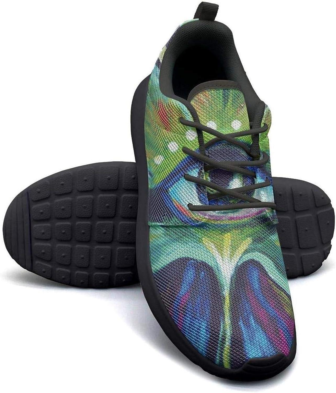 Gjsonmv Marijuana Weed Eyes Moon mesh Lightweight shoes for Women Cool Sports Bike Sneakers shoes