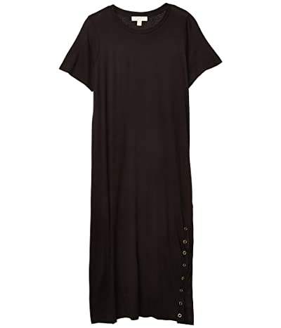MICHAEL Michael Kors Plus Size Midi Grommet Dress (Black) Women