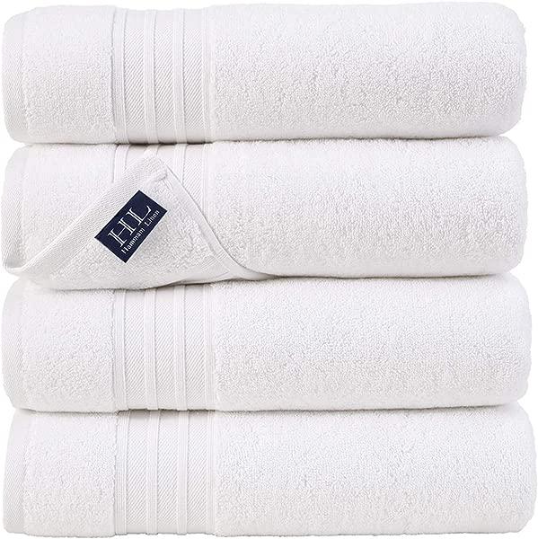 Hammam Linen Ultra Soft Turkish Bath Towels 27 X 54 Inches 4 Pieces Towel Set 100 Cotton Towels White