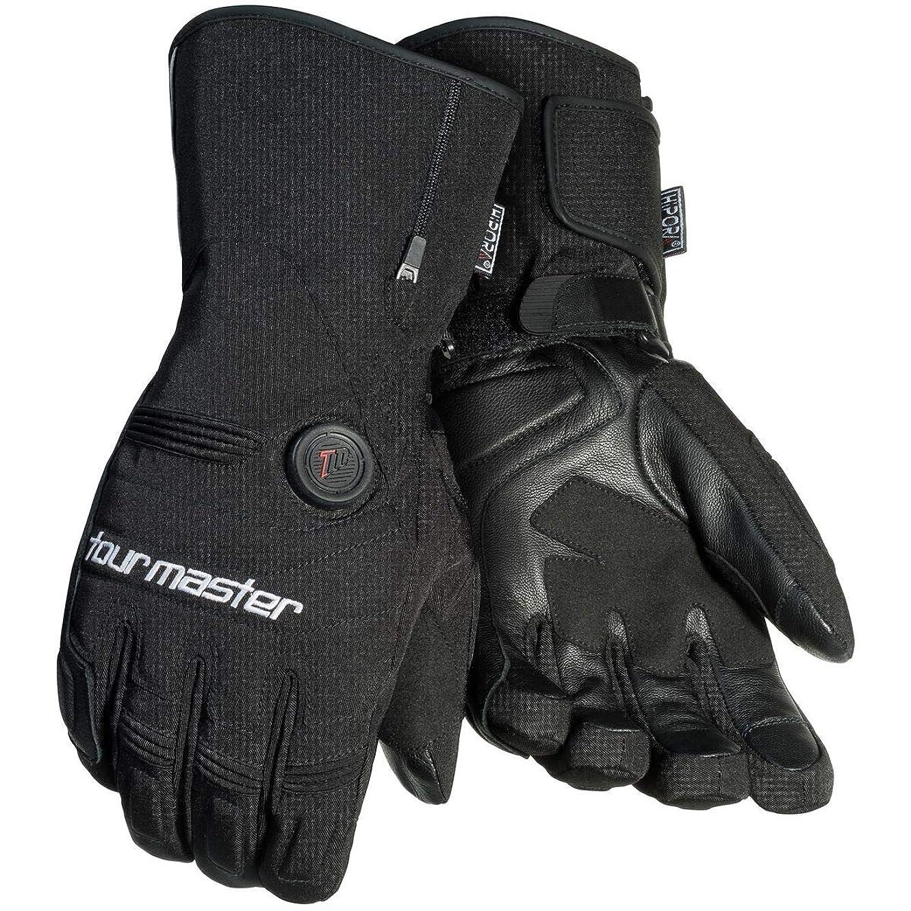 パシフィックひもじゃないツアーマスターSynergy 7.4?V Womens Textile Street Racing Motorcycle Gloves L ブラック 8430-7405-76