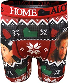 Warner Bros Men s Home Alone Movie Christmas Marvin and Harry Boxer Briefs  Black 1919dec35