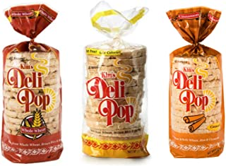 Kim's Deli Pop Rice Cakes | Original, Whole Wheat, Cinnamon | Keto, Paleo, Multigrain, Natural, Vegan | Sugar Free Korean Snack | Low Calorie, Low Fat | Variety 3 Pack |