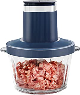 Adaskala Electric Meat Grinder Fast & Slow 2 Speeds Multi-Functional 2L Glass Food Processor Chopper Meat Mixer with 300W ...